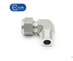 China Supplier Metric 90 Degrees Elbow Female Adjustable Bite Type Tube Fittings