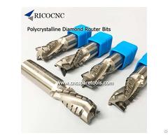 Cnc Polycrystalline Diamond Router Bits Pcd Cutting Tools