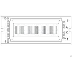 Monochrome Lcm Character Type Plc0801bw
