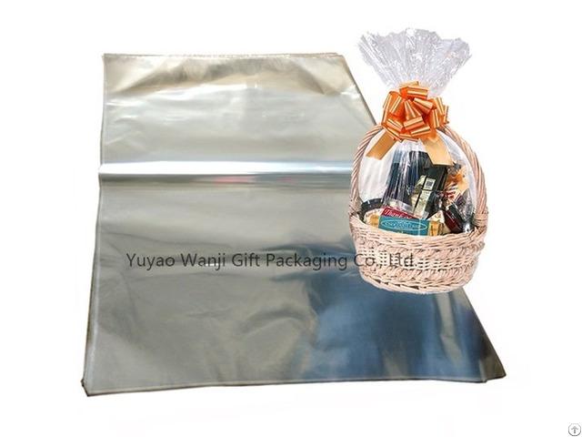Oversized Clear Cellophane Bag Transparent Opp Plastic Basket Gift Packing