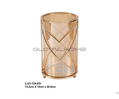 Simple Round Shape Table Metal Candle Holder For Dinner